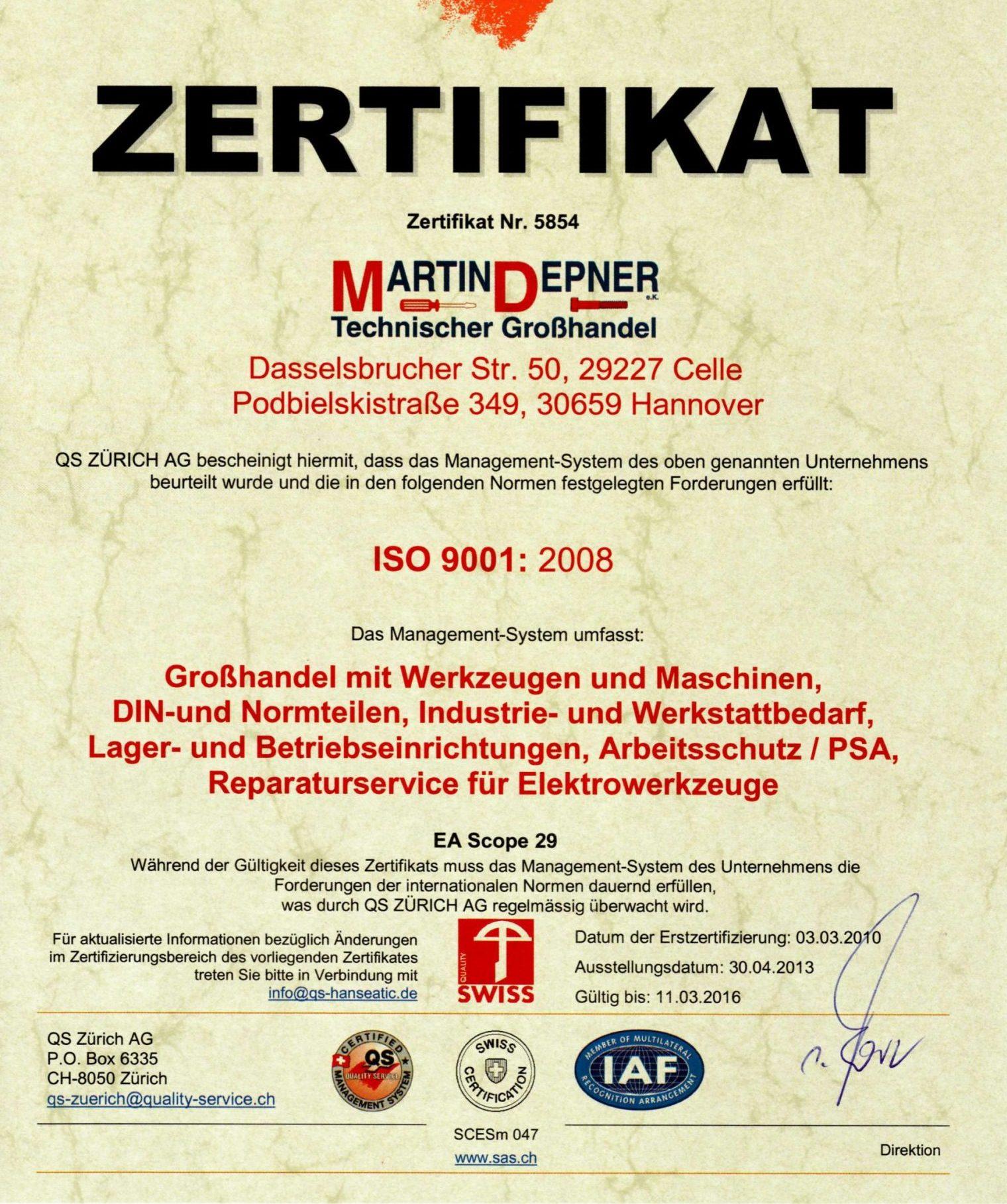 Martin Depner GmbH Technischer Großhandel
